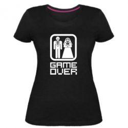 Женская стрейчевая футболка Game Over