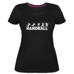 Жіноча стрейчева футболка Гандболисти
