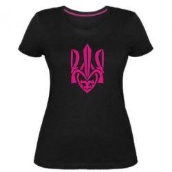 Женская стрейчевая футболка Гарний герб України - FatLine