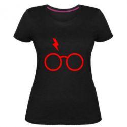 Жіноча стрейчева футболка Гаррі Поттер лого