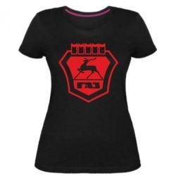 Женская стрейчевая футболка ГАЗ - FatLine