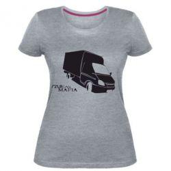 Женская стрейчевая футболка Газель Мафия