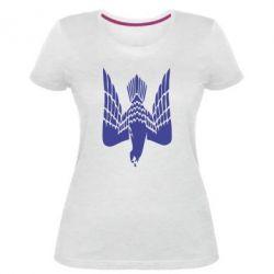 Жіноча стрейчева футболка Герб-сокіл