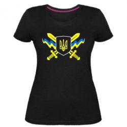 Женская стрейчевая футболка Герб та мечи