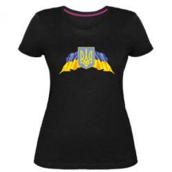 Женская стрейчевая футболка Герб та прапор