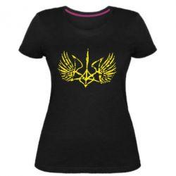 Женская стрейчевая футболка Герб з крилами