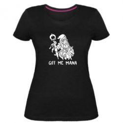 Женская стрейчевая футболка Giff Me Mana