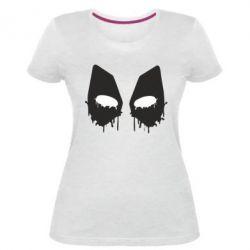Женская стрейчевая футболка Глаза Deadpool - FatLine