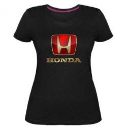 Женская стрейчевая футболка Gold Honda
