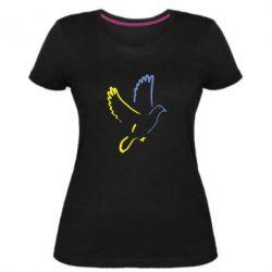 Женская стрейчевая футболка Голуб миру