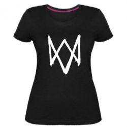 Женская стрейчевая футболка Graffiti Watch Dogs logo