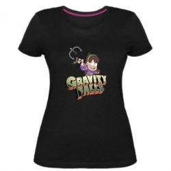 Жіноча стрейчева футболка Гравіті Фолз