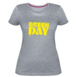 Женская стрейчевая футболка Green Day