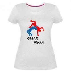 Жіноча стрейчева футболка Греко-римська боротьба