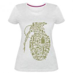 Жіноча стрейчева футболка Grenade Art