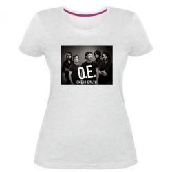 Женская стрейчевая футболка Группа Океан Ельзы