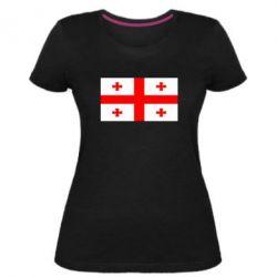 Жіноча стрейчева футболка Грузія