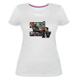 Жіноча стрейчева футболка GTA IV