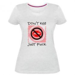 Жіноча стрейчева футболка губки