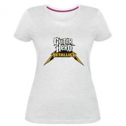 Женская стрейчевая футболка Guitar Hero Metallica - FatLine