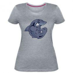 Жіноча стрейчева футболка Gym Shark