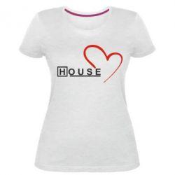 Женская стрейчевая футболка H