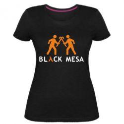 Женская стрейчевая футболка Half Life Black Mesa - FatLine