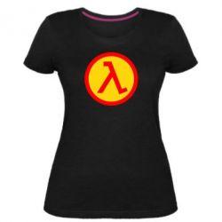 Женская стрейчевая футболка Half Life Logo