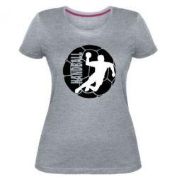 Женская стрейчевая футболка Handball Logo