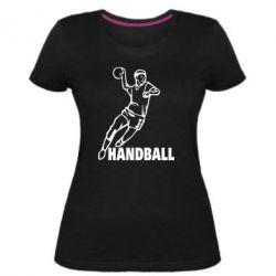 Женская стрейчевая футболка Handball