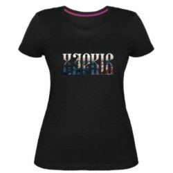 Жіноча стрейчева футболка Харків