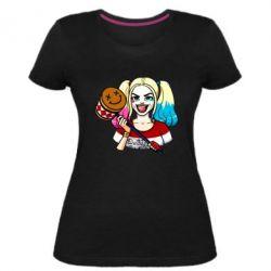 Жіноча стрейчева футболка Харлі Квінн