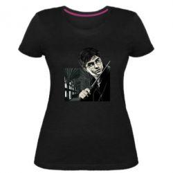 Женская стрейчевая футболка Harry Potter