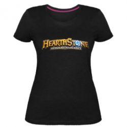 Жіноча стрейчева футболка Hearthstone logotip