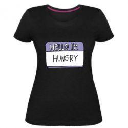 Жіноча стрейчева футболка Hello, I'm hungry