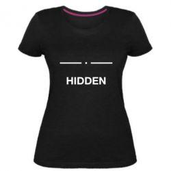 Жіноча стрейчева футболка Hidden