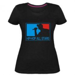 Жіноча стрейчева футболка Hip-hop all stars