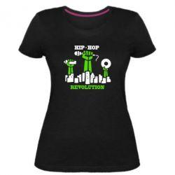 Женская стрейчевая футболка Hip-hop revolution
