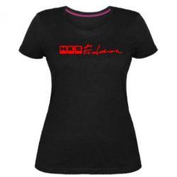 Жіноча стрейчева футболка HKS logo