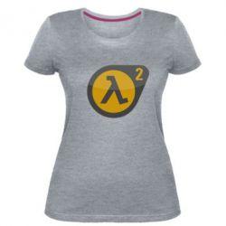 Женская стрейчевая футболка HL 2 logo