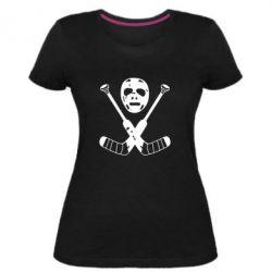 Жіноча стрейчева футболка Хокейна маска