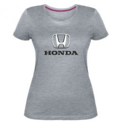 Женская стрейчевая футболка Honda 3D Logo