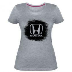 Женская стрейчевая футболка Хонда арт, Honda art - FatLine