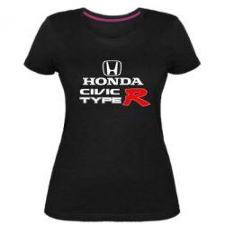 Жіноча стрейчева футболка Honda Civic Type R