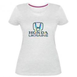 Жіноча стрейчева футболка Honda Ukraine Голограма