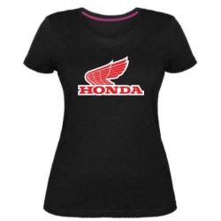 Жіноча стрейчева футболка Honda Vintage Logo
