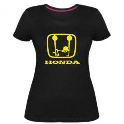 Женская стрейчевая футболка Honda - FatLine