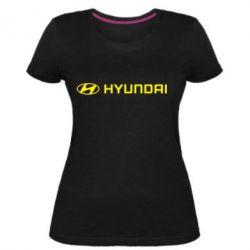 Женская стрейчевая футболка Hyundai 2