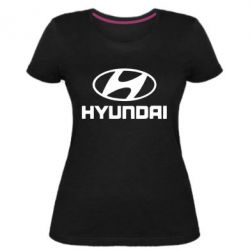 Женская стрейчевая футболка HYUNDAI