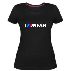 Жіноча стрейчева футболка I am FAN